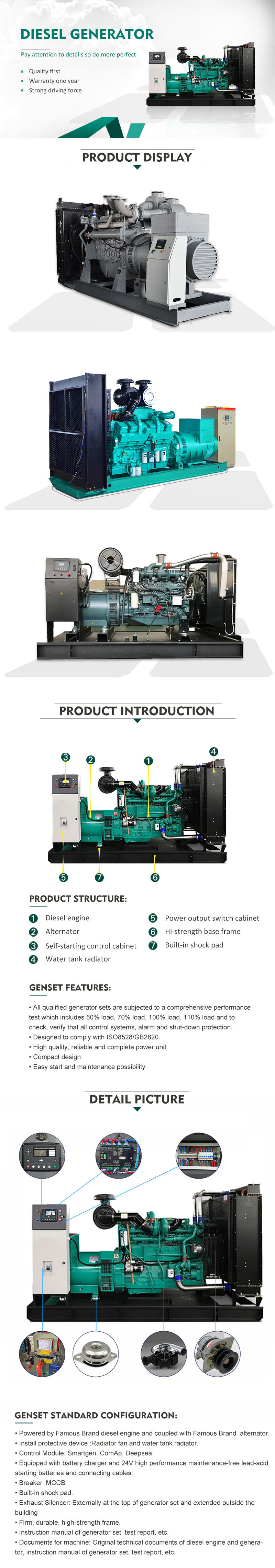 60HZ Scania Diesel Generator supplier